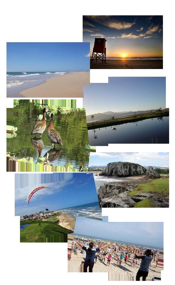Fotos da praia de Rondinha e Arroio do Sal